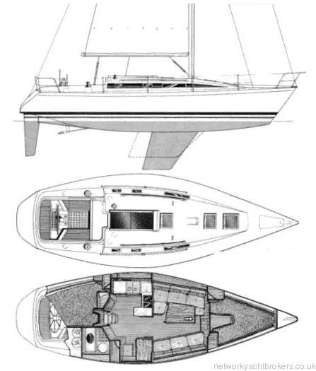 Beneteau First 375 Drawing