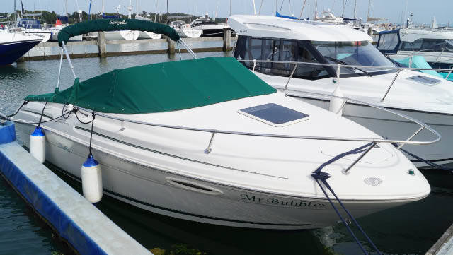 This Sea Ray 215 express cruiser is a great Day boat with accommodation for overnight trips as well
