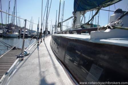 37ft Bruce Clark Boat New Zealand built offshore sailing yacht. Lying in Neyland Marina. Network Yacht Brokers Neyland