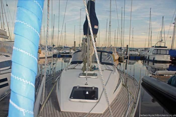 Beneteau First 375 Coach roof, Teek deck