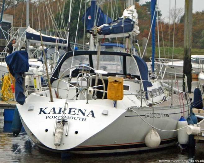 Beneteau First 375 in the marina