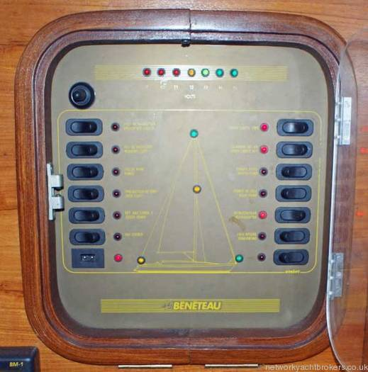 Beneteau First 375 electricity control panel