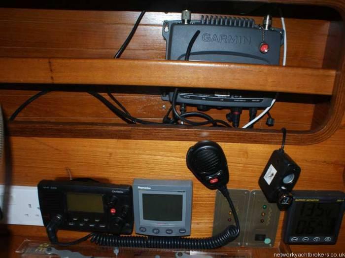 Beneteau First 375 Navigation and radeo equipment,Garmin GPS,VHF Radar