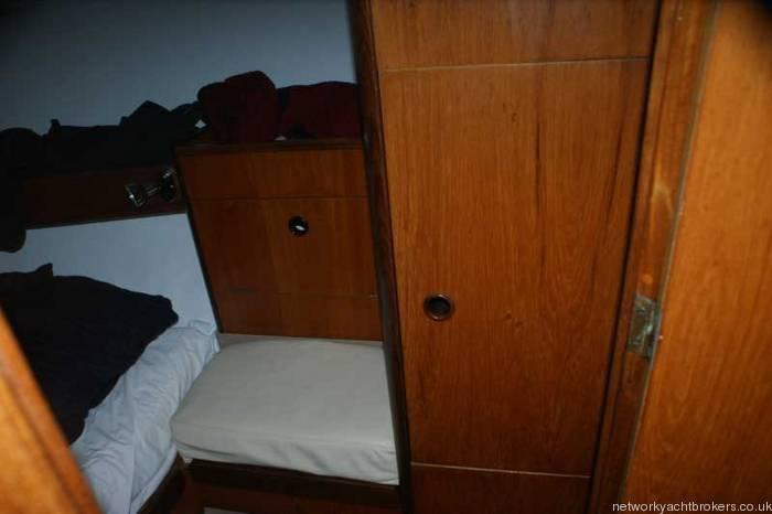 Beneteau First 375 Wardrobe in aft cabin
