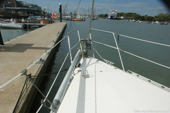 Maxi 1000 for sale in Lymington Forward deck with spinnaker pole