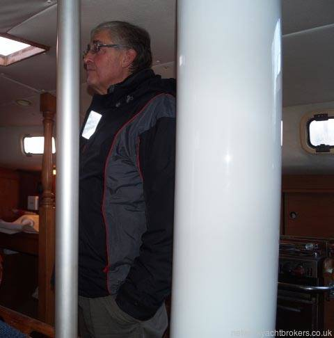 Freedom 35 has ample headroom for tall people