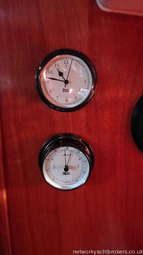 Bavaria 30 Clock & Barometer