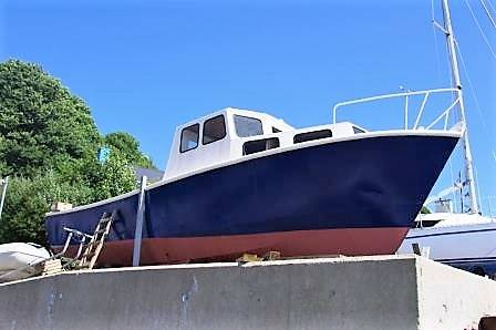 Steel Work Boat For Sale. Ycahts.Co Neyland Tel: 01646 602 500