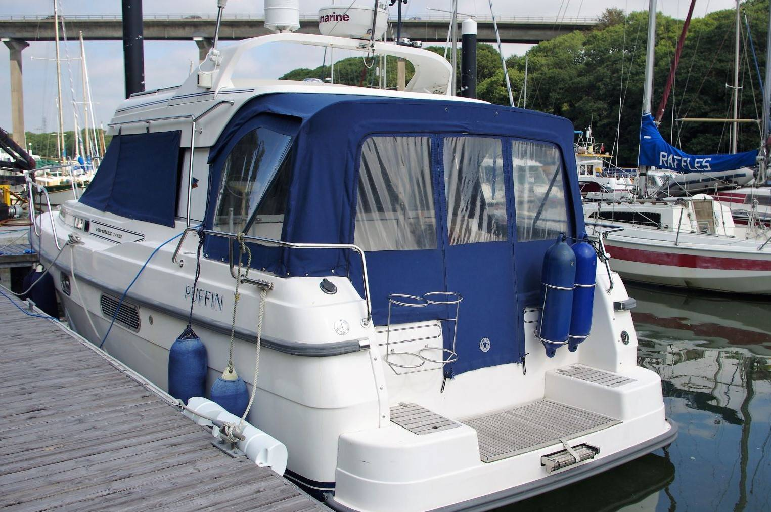 Nimbus 310 Coupe For Sale. (1999) Yachts.co Neyland Post Code: SA73 1PY. Call: 01646602500 visit: www.yachts.co