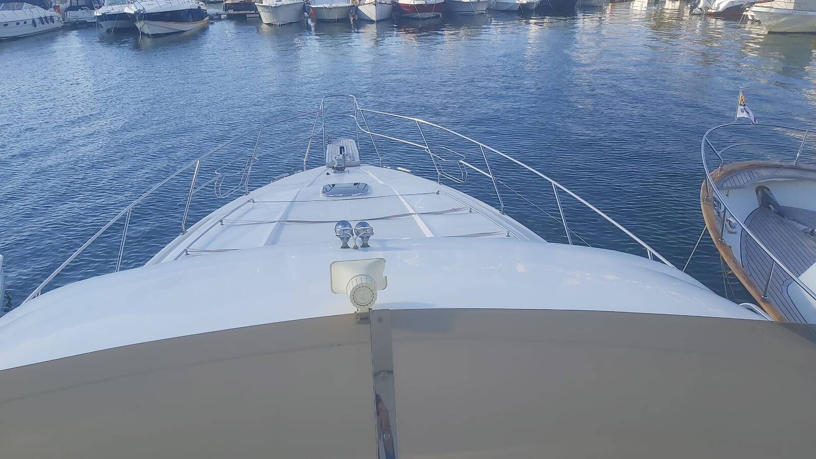 Looking down from fly Princess Motor Yacht