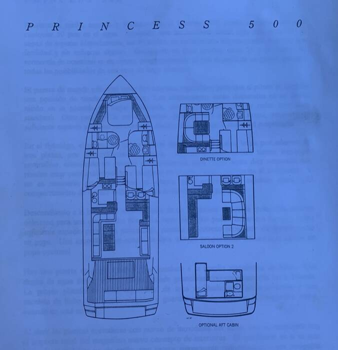 Layout Princess Motor Yacht