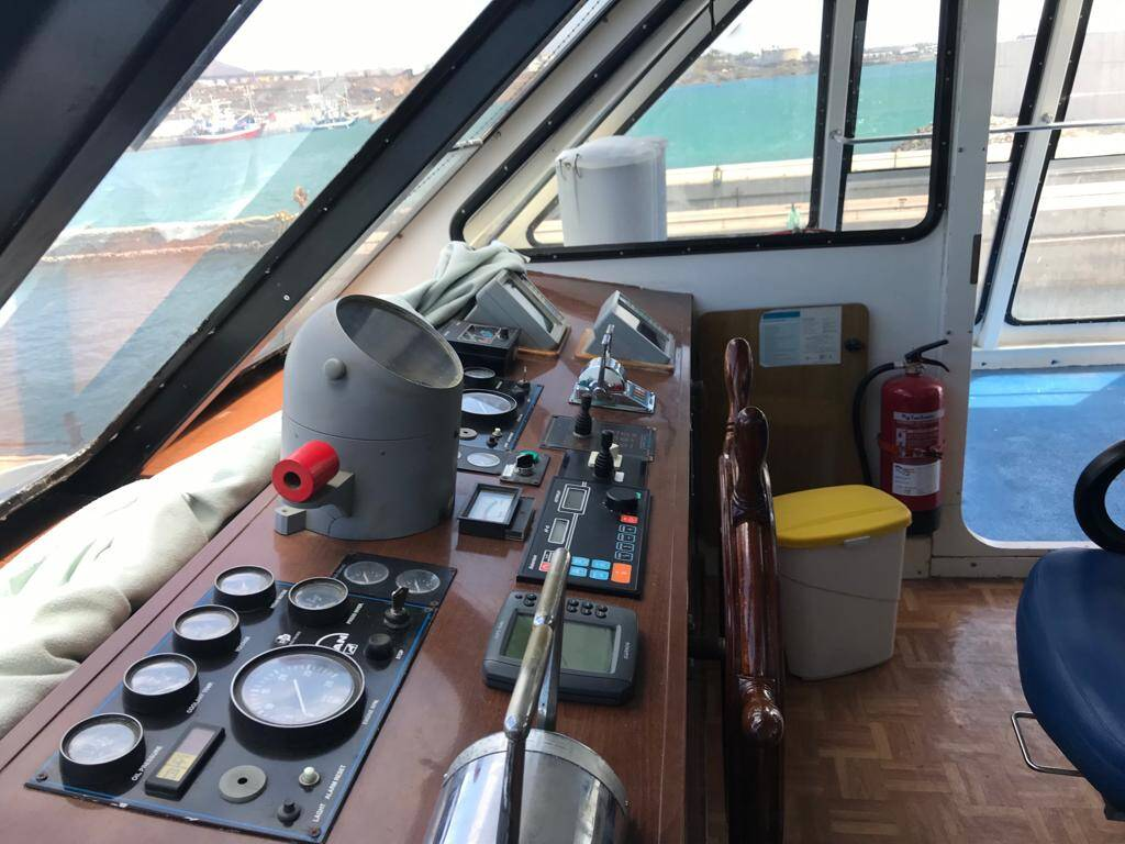 Helm on Catamaran Commercial Boat for Sale