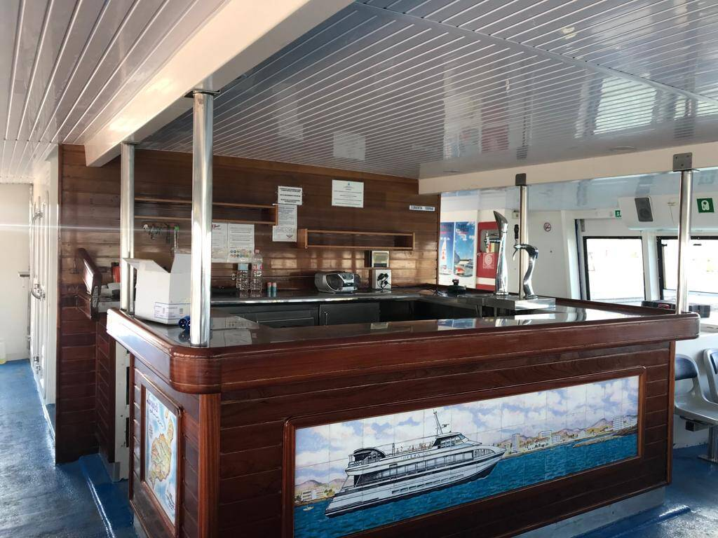 The bar Catamaran Commercial Boat for Sale