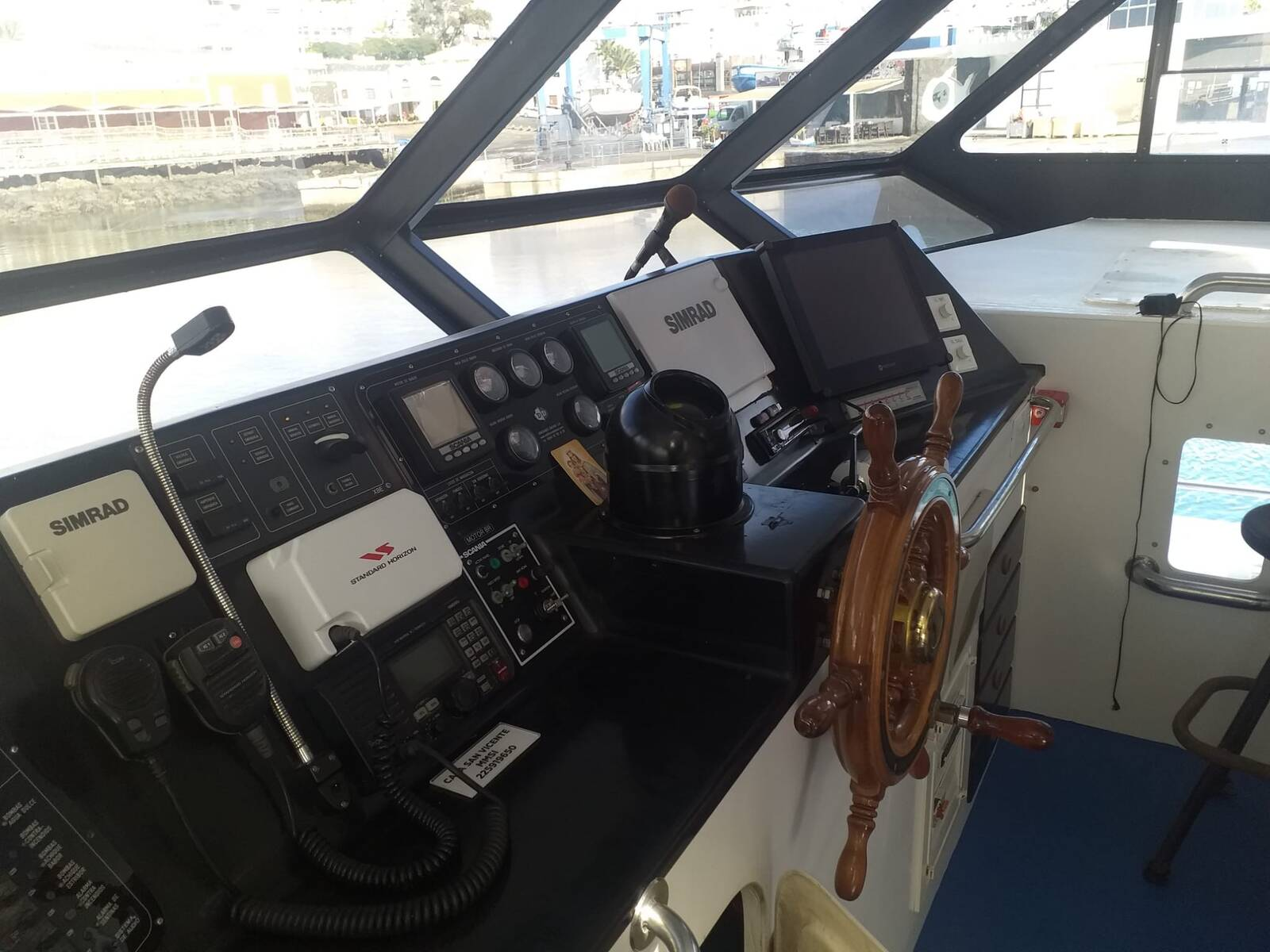 Helm position Commercial Catamaran Glass Bottom Boat for sale