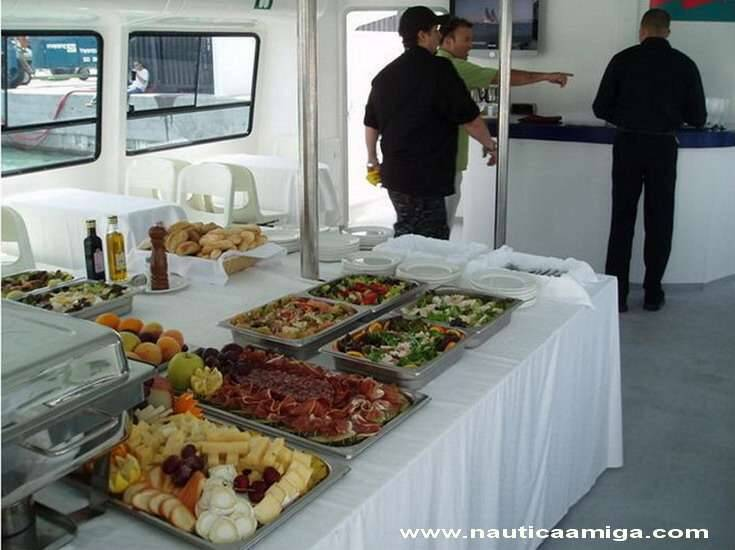 Food Commercial Catamaran Motor Yacht For Sale