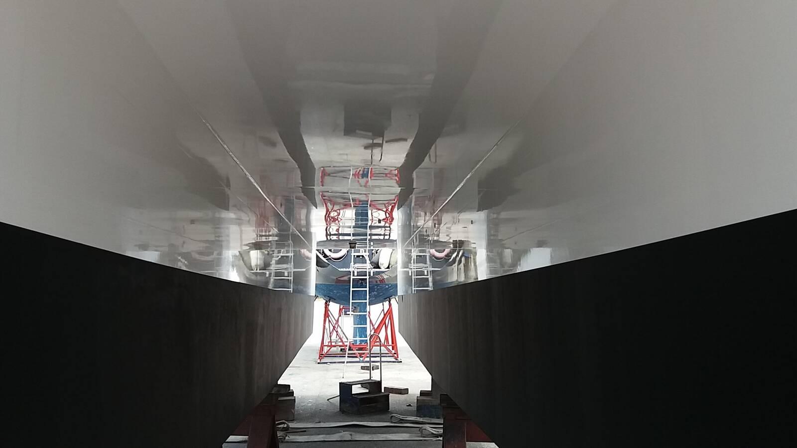 underneath Commercial Catamaran Morotr Yacht For Sale