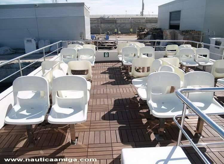 deck seats Commercial Catamaran Morotr Yacht For Sale