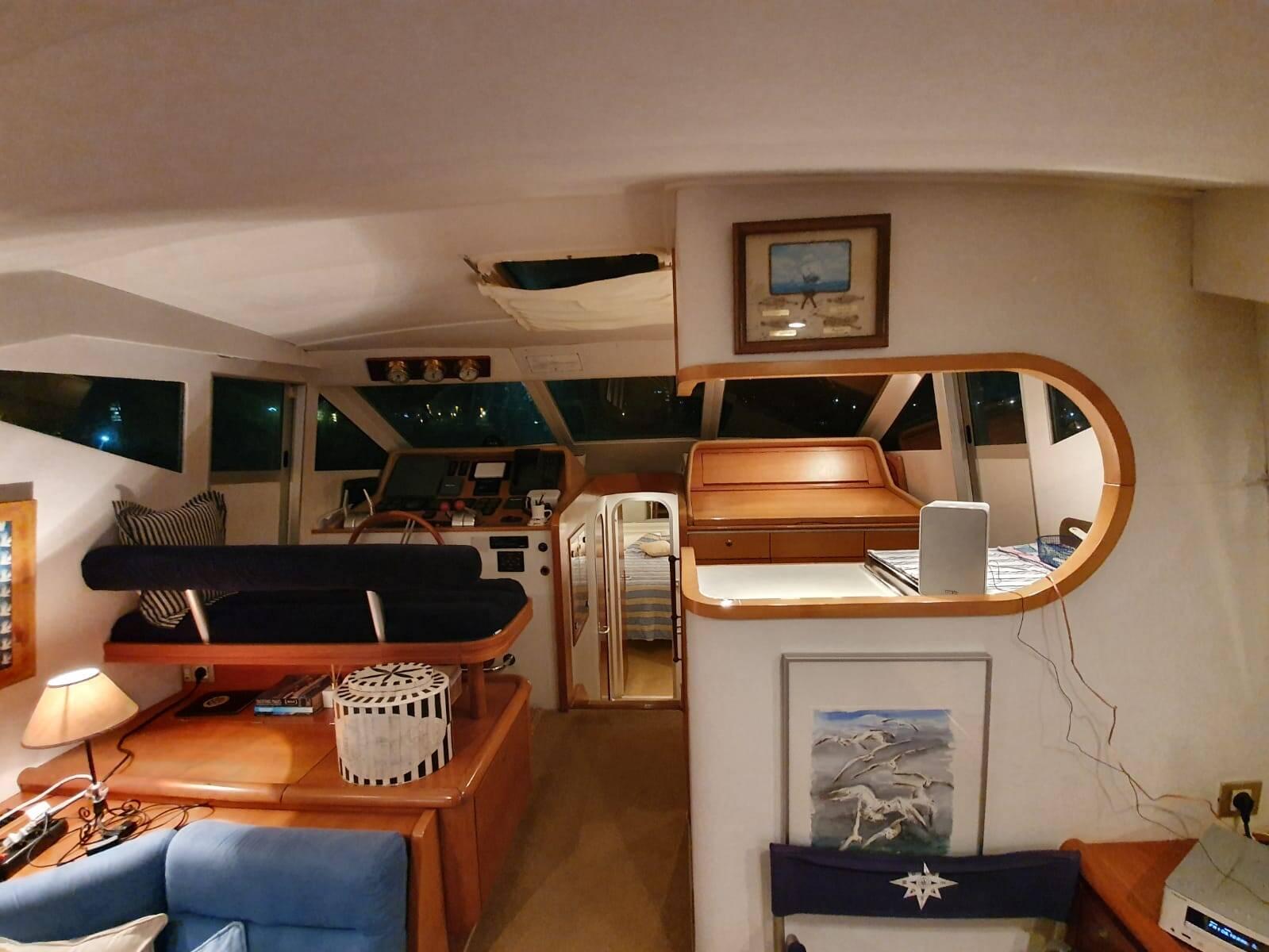 helm lower Rodman Motor Yacht For Sale Barcelona Spain