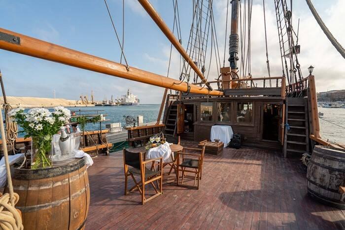 deck Pirate Ship Film Ship Replica For Sale