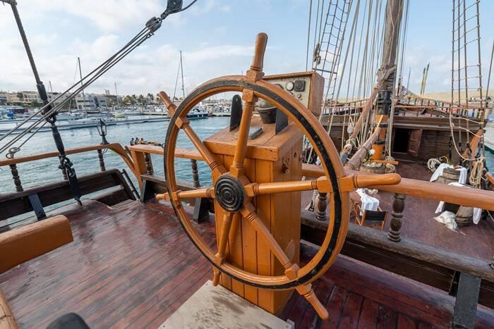 wheel Pirate Ship Film Ship Replica For Sale
