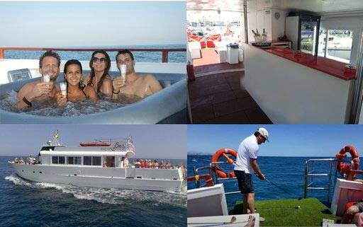 Tourist boat for sale side