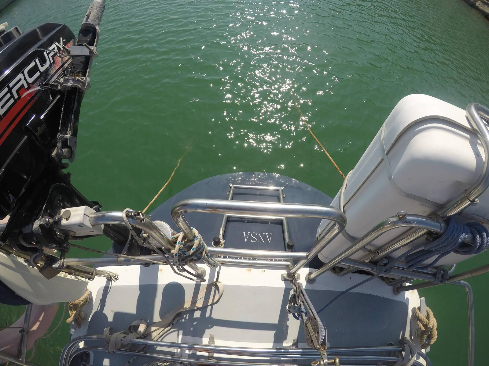 Ansa 42 Sailing Yacht Transom