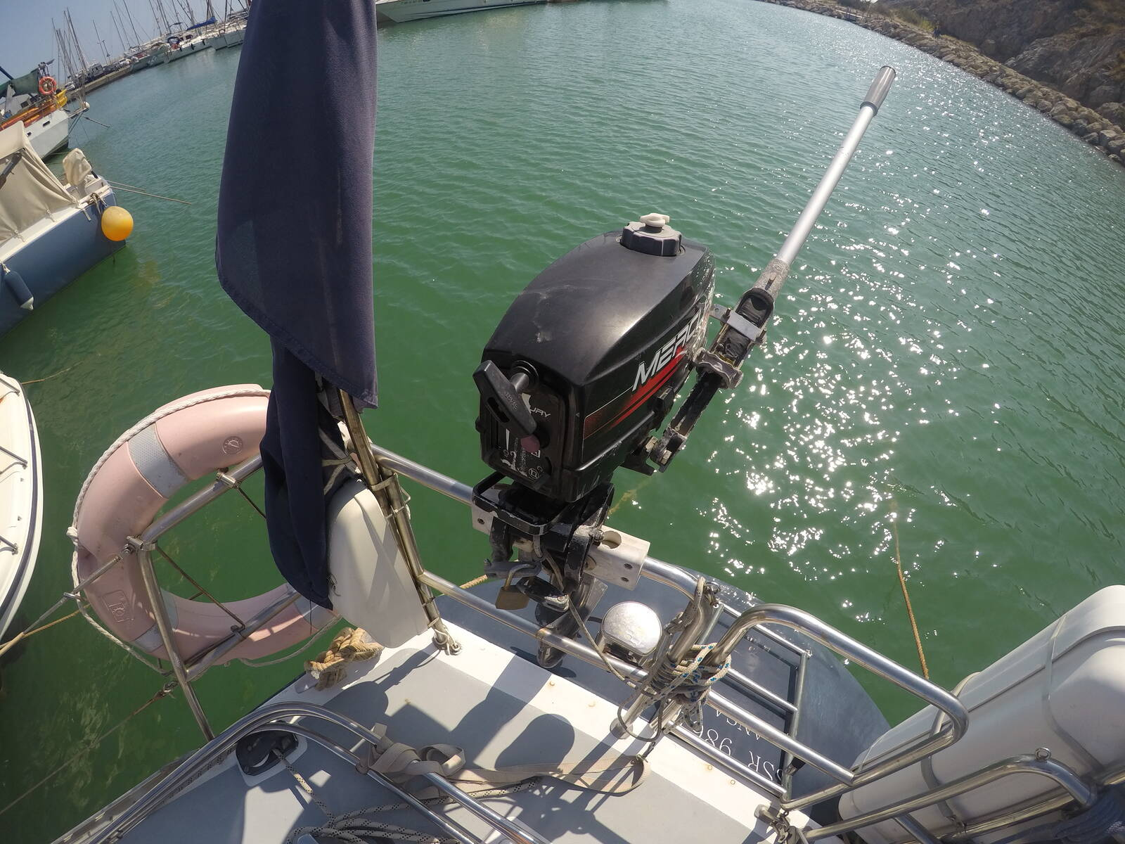 Ansa 42 Sailing Yacht Outboard engine