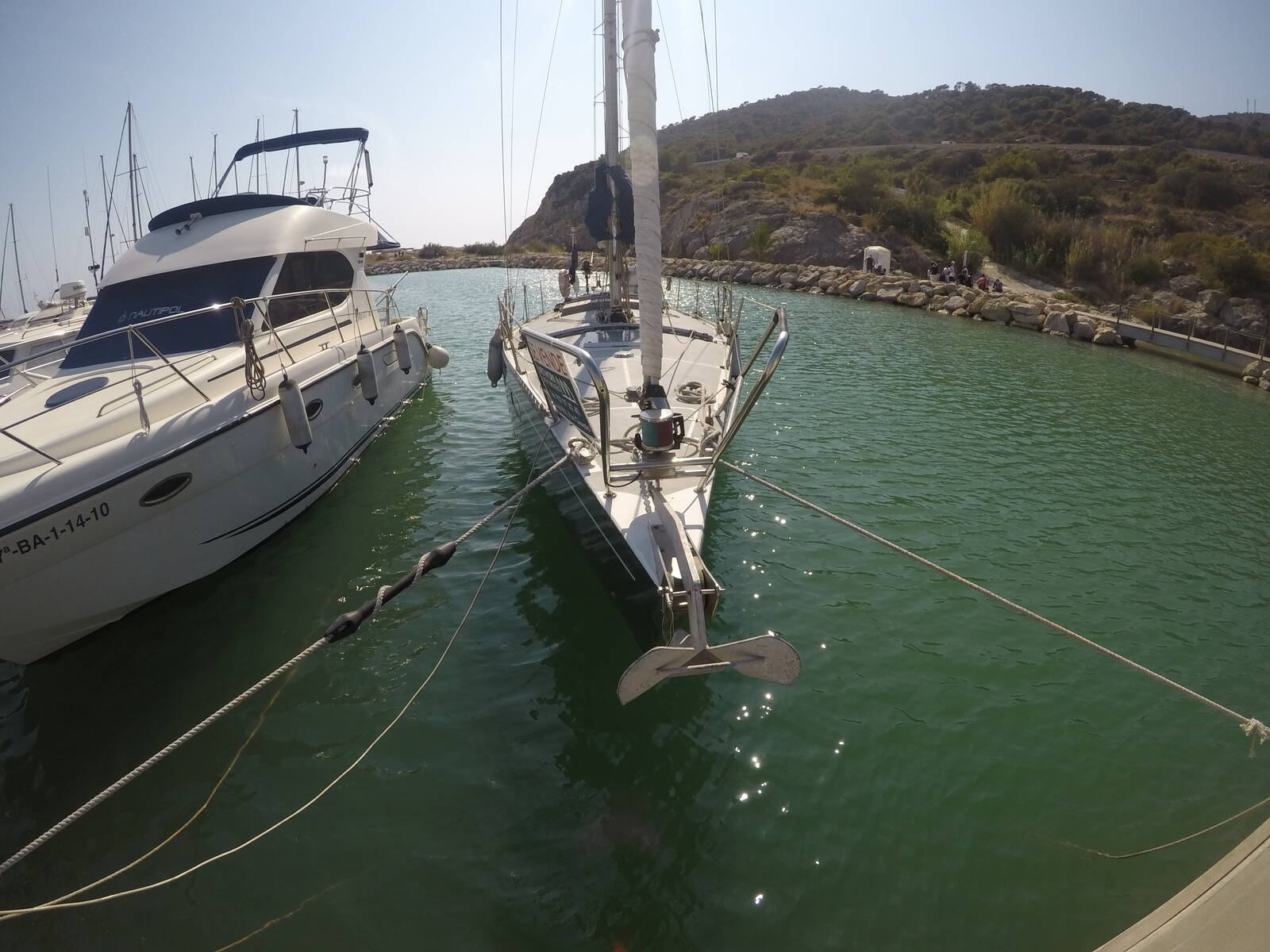 Ansa 42 Sailing Yacht from bow