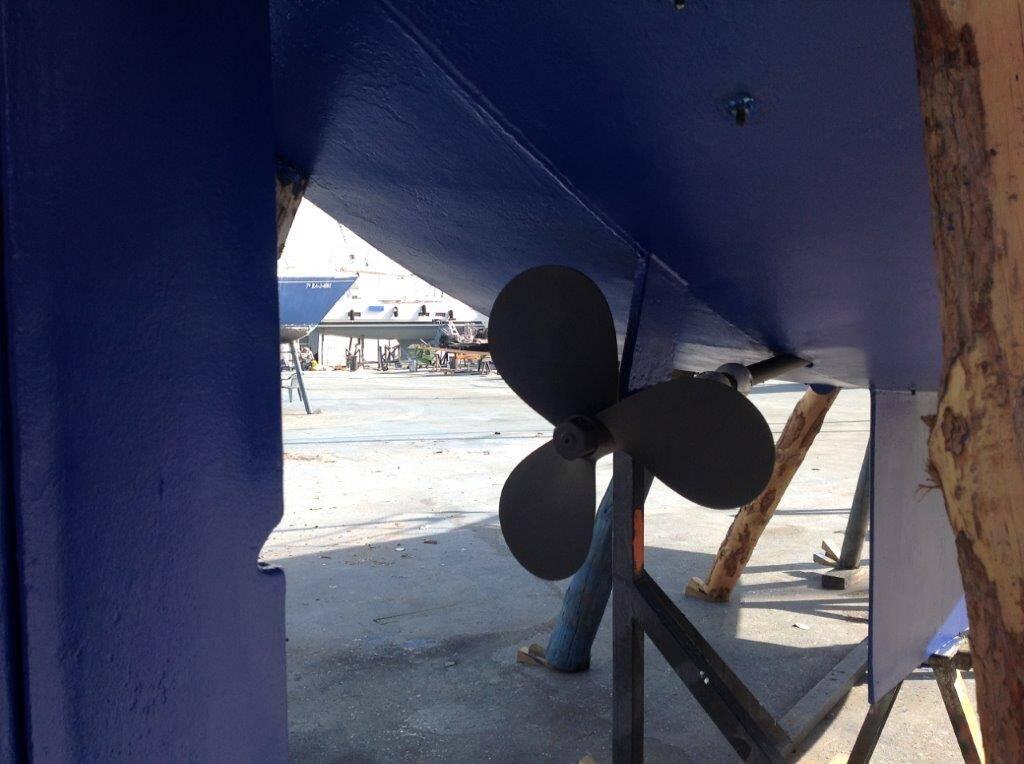 Van de Stadt Sailboat Steel propeller