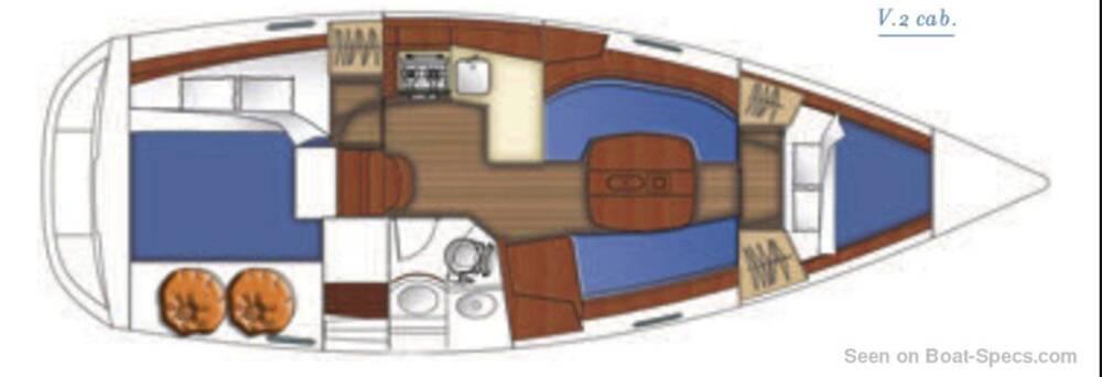 Beneteau Oceanis 343 layout