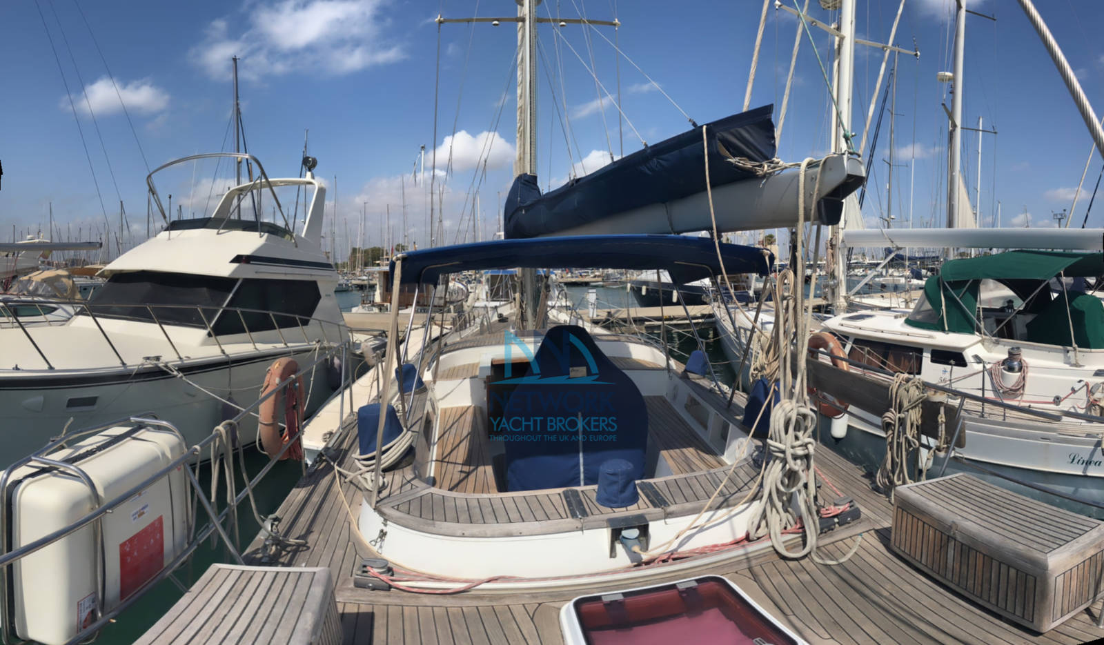 view aft and cockpit Belliure 50 for sale